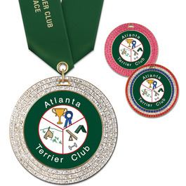GEM Dog Show Award Medal w/ Satin Neck Ribbon