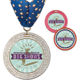 GEM Dog Show Award Medal w/ Millennium Neck Ribbon