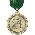HH Dog Show Award Medal w/ Satin Neck Ribbon