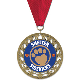 RS14 Dog Show Award Medal w/ Grosgrain Neck Ribbon
