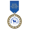RS14 Dog Show Award Medal w/ Satin Drape