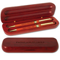Rosewood Pen and Pencil Set Dog Show Award