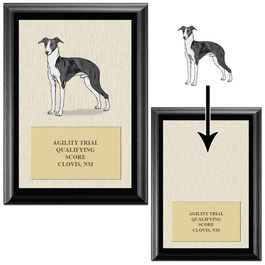 Award Plaque w/ AKC Breeds - Black