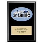 Full Color Dog Show Award Plaque - Black w/ Engraved Plate
