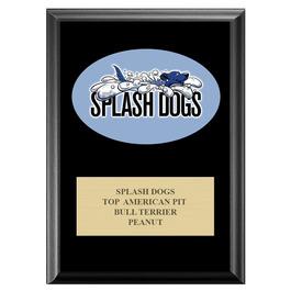 Full Color Dog Show Award Plaque - Black w/ Engraved Plate
