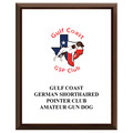 Full Color Dog Show Award Plaque - Cherry Finish