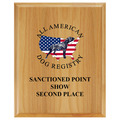 Full Color Solid Red Alder Dog Show Award Plaque