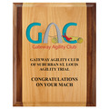 Full Color Red Alder and Walnut Dog Show Award Plaque