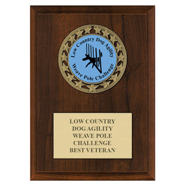 RS14 Dog Show Medal Award Plaque - Cherry Finish
