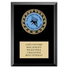 RS14 Dog Show Medal Award Plaque - Black Finish