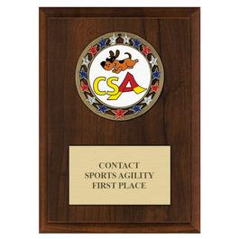RSG Dog Show Award Medal Plaque - Cherry Finish