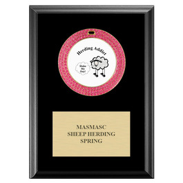 GEM Dog Show Medal Award Plaque - Black Finish
