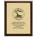 Dog Show Award Plaque - Cherry Finish w/ Engraved Plate