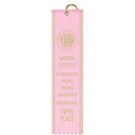 Square Top Award Ribbon w/ Border