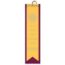 2 Layered Square Top Award Ribbon