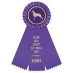 Mere Dog Show Rosette Award Ribbon