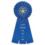 Clare Dog Show Rosette Award Ribbon