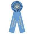 Ideal 2 Dog Show Rosette Award Ribbon