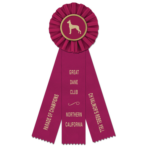 Ideal 3 Rosette Dog Show Award Ribbons Hodges Badge Co