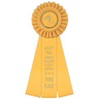 Luxury Dog Show Rosette Award Ribbon