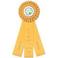Luxury Dog Show Rosette Award Ribbonw/ 3 Streamer Printing