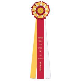 Newcastle Dog Show Rosette Award Ribbon