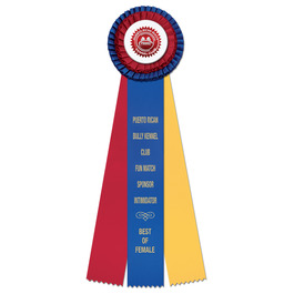 Chester Dog Show Rosette Award Ribbon