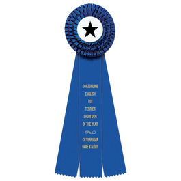 Dover Dog Show Rosette Award Ribbon