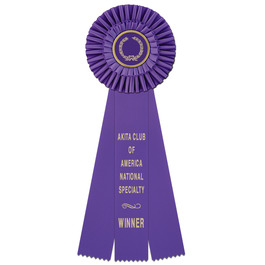 Rosette Cat Show Ribbon Award  Purple and White Tier Satin Ribbon Award F F Midwest Feline Specialty Show Collective Ribbons  Re purpose