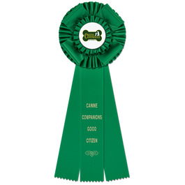 Langport Dog Show Rosette Award Ribbon