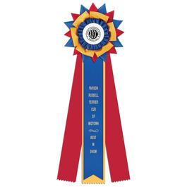Amesbury Dog Show Rosette Award Ribbon