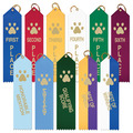 Stock Paw Print Place Dog Show Ribbons