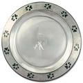 Pewtarex™ Paw Print Rim Dog Show Award Plate
