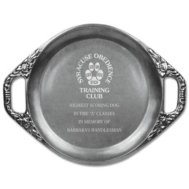 Engraved Floral Handled Dog Show Award Tray