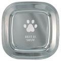 Paw Print Silver Award Tray w/ Placing