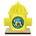 Hydrant Shape Birchwood Dog Show Award Trophy w/ Natural Birchwood Base