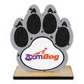 Paw Print Shape Birchwood Dog Show Award Trophy w/ Natural Birchwood Base