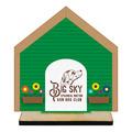Dog House Shape Birchwood Dog Show Award Trophy w/ Natural Birchwood Base