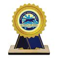 Rosette Shape Birchwood Dog Show Award Trophy w/ Natural Birchwood Base
