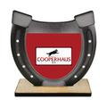 Horseshoe Shape Birchwood Dog Show Award Trophy w/ Natural Birchwood Base