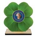 Clover Shape Birchwood Dog Show Award Trophy w/ Natural Birchwood Base