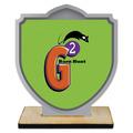 Shield Shape Birchwood Dog Show Award Trophy w/ Natural Birchwood Base