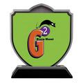 Shield Shape Birchwood Dog Show Award Trophy w/ Black Base