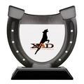 Birchwood Horseshoe Dog Show Award Trophy w/ Black Base