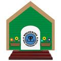 Birchwood Dog House Dog Show Award Trophy w/ Rosewood Base