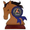 Birchwood Horse Head Dog Show Award Trophy w/ Rosewood Base