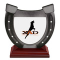 Birchwood Horseshoe Dog Show Award Trophy w/ Rosewood Base