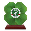 Birchwood Clover Dog Show Award Trophy w/ Rosewood Base
