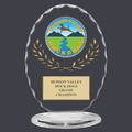 Free Standing Oval Dog Show Trophy