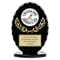 Black Free Standing Oval Dog Show Trophy